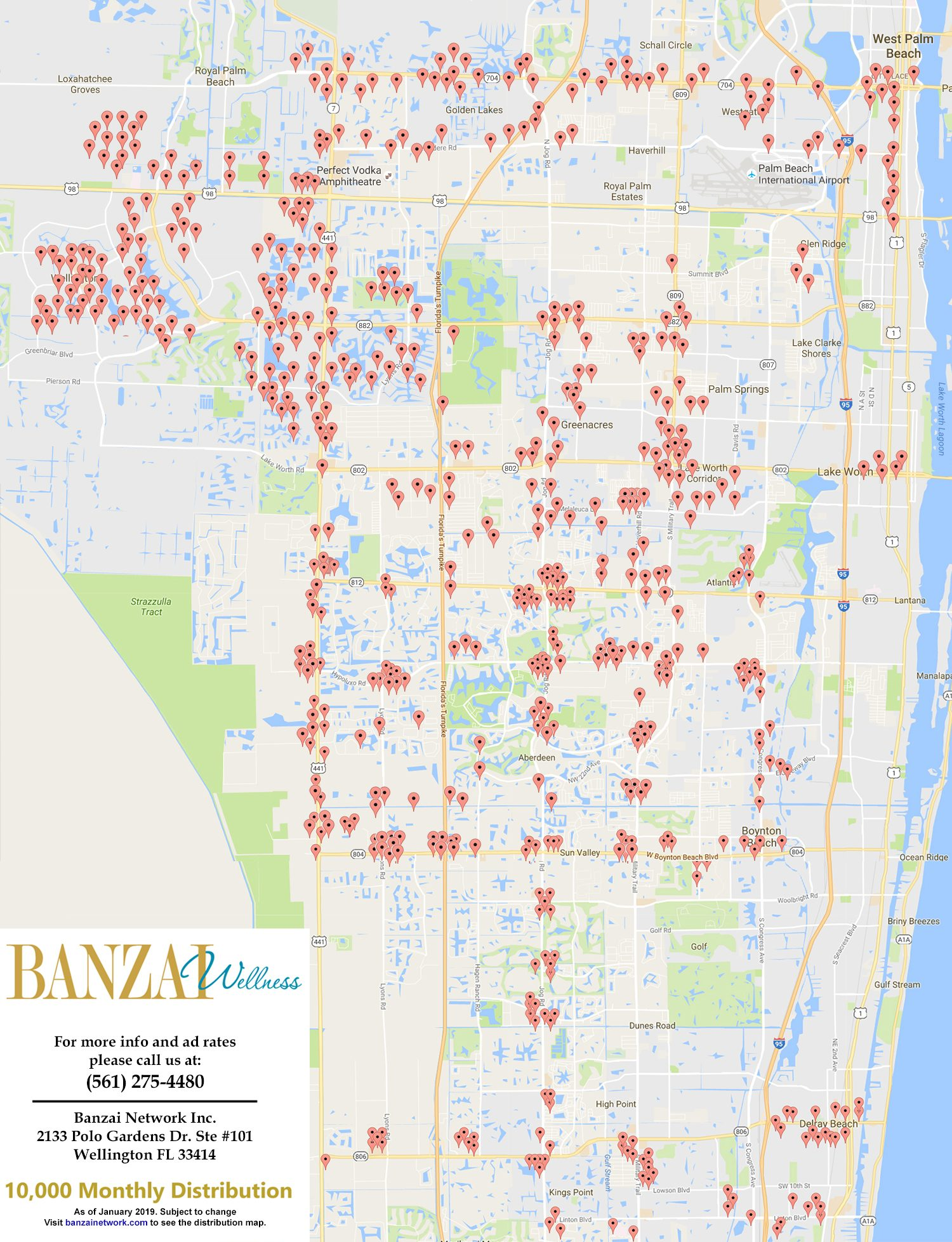 Banzai-Distribution-Map